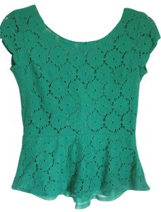 Xhilaration Women's Lace Scoop Top Green