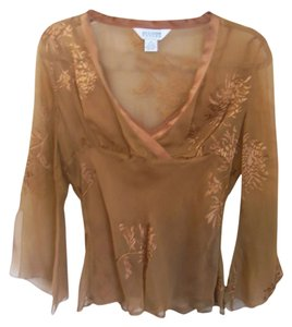 Allison Taylor Silk Top copperish
