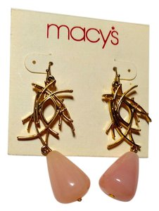 Macy's Macy's Pink & Gold Earrings E605