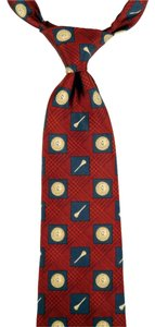 Ralph Lauren Ralph Lauren Chaps Golf Themed 100% Silk Tie: MSRP $88