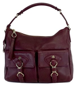 Cole Haan Burgundy Leather Hobo Bag