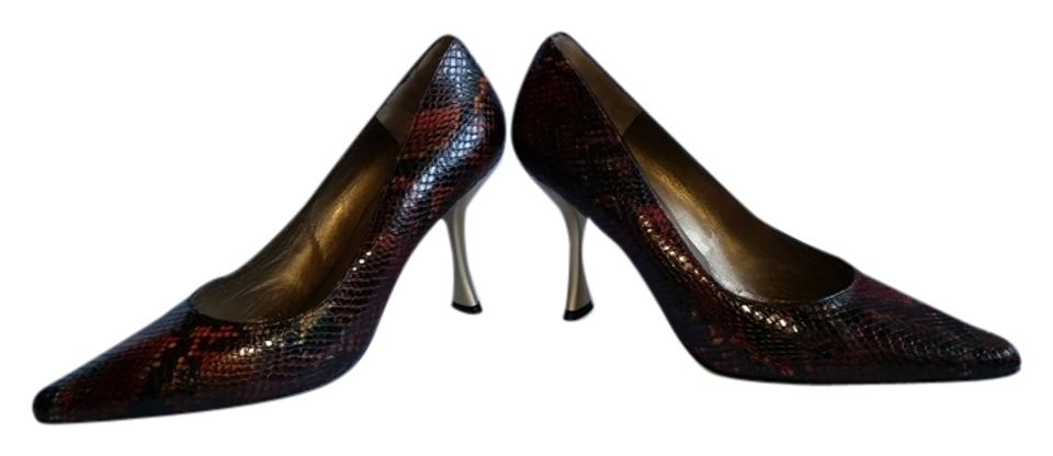 Charles Jourdan Red and Black Pumps Pumps Black e6ede9