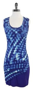Nicole Miller short dress Blue Tie Dye Print on Tradesy