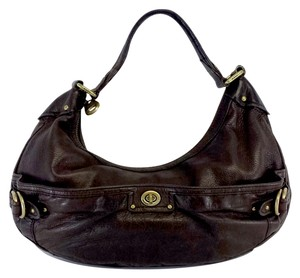 Marc Jacobs Brown Pebbled Leather Shoulder Bag