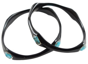 Ippolita IPPOLITA BLACK RESIN 4 STONE BRONZE TURQUOISE BANGLE