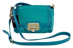 Cole Haan Turqouise Teal Leather Cross Body Bag