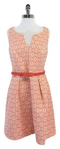 Trina Turk short dress Cream Coral Geo Print on Tradesy