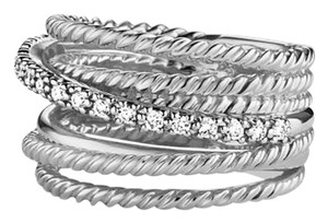 David Yurman David Yurman Diamond Crossover Ring
