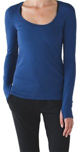 Lululemon Longsleeve Pima Cotton T Shirt Heathered Sapphire Blue