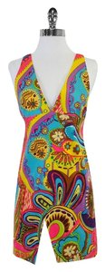 MILLY short dress Neon Paisley Print on Tradesy
