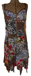 The Pyramid Collection short dress multi color print Summer Sheer Light Flowy on Tradesy