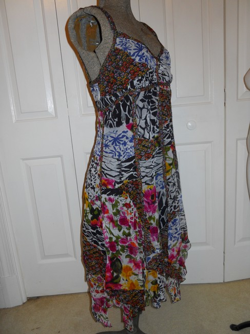 The Pyramid Collection short dress multi color print Summer Sundress Sheer Light Flowy on Tradesy Image 3