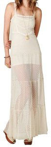 Ivory Maxi Dress by Free People Maxi Dot Mesh Lace