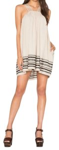 Free People short dress V-neck Embroidered on Tradesy