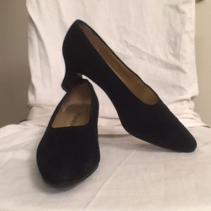 Saint Laurent Vintage Suede Yves Black Pumps