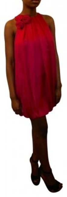 Preload https://item4.tradesy.com/images/bebe-fuschia-silk-baby-mini-night-out-dress-size-2-xs-150593-0-0.jpg?width=400&height=650