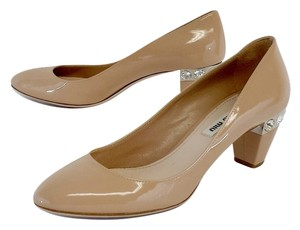 Miu Miu Nude Patent Leather Heels Pumps