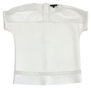 Rachel Zoe White Neoprene Short Sleeve T Shirt