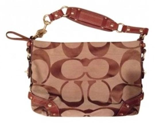 Coach Satchel in Brown/Tan
