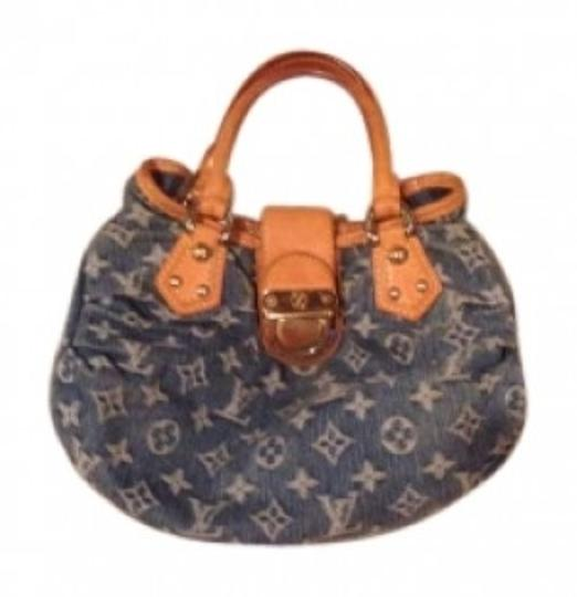 Preload https://item2.tradesy.com/images/louis-vuitton-blue-jean-material-satchel-150596-0-0.jpg?width=440&height=440