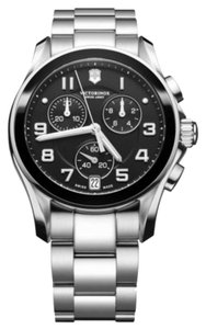 Victorinox Victorinox Swiss Army Men's 241544 Black Chronograph Classic Stainless Steel Bracelet Watch