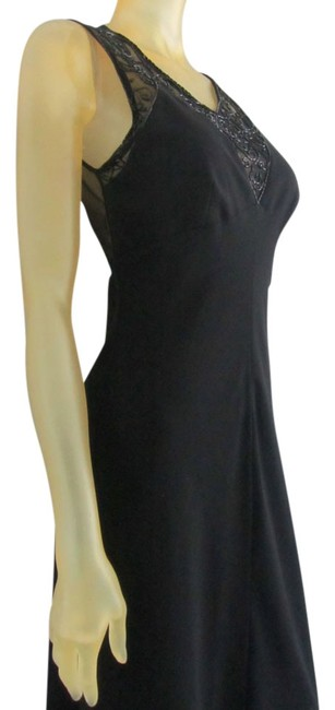 Preload https://img-static.tradesy.com/item/15059938/kay-unger-black-beaded-evening-gown-long-cocktail-dress-size-8-m-0-1-650-650.jpg