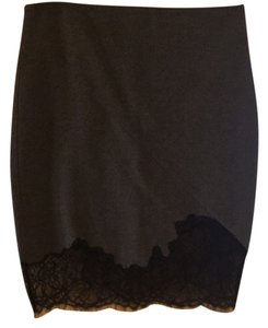 Robert Rodriguez Skirt Heather /gray and bkack lace