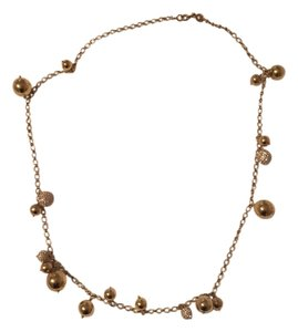 J.Crew J.Crew Gold and Crystal Bobble Necklace