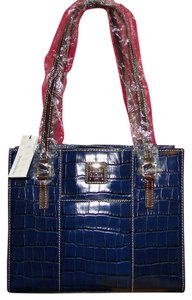 Dooney & Bourke Leather Charlotte Croc Emb Lined Shoulder Bag