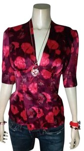 Guess Size Small Red P855 Top red, pink