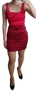 Express Satin Color-blocking Pleated Sleeveless Bodycon Dress