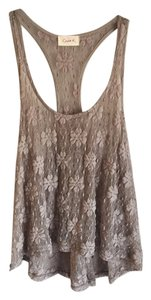 Chloe K Night Out Lace Date Night Top Tan