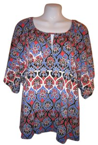 Jaclyn Smith Top Multi - color