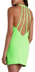 Charlotte Russe short dress Green Neon Strappy Backless Shift Neon Cute Sexy on Tradesy