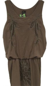 Very J short dress Brown, Gray on Tradesy