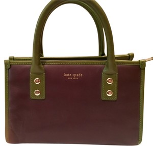 Kate Spade Structured Two-tone Satchel in Brown