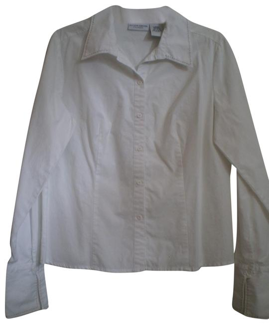 Preload https://item4.tradesy.com/images/jaclyn-smith-white-like-new-long-sleeved-shirt-button-down-top-size-14-l-150623-0-1.jpg?width=400&height=650