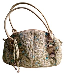 Donna Sharp Satchel in GREEN/TURQUOISE/GOLD PRINT