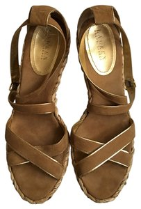 Ralph Lauren Gold Wedges