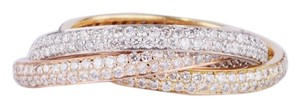 Other 18K Diamond Trinity Band in White, Yellow and Pink Gold