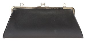 Burberry Saffiano Leather Black Clutch