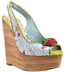 CeCe L'amour Blue/multi Wedges
