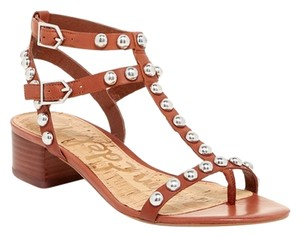 Sam Edelman Studded Gladiator New SADDLE BROWN Sandals