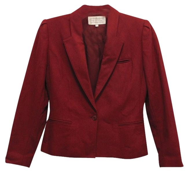 Preload https://item1.tradesy.com/images/the-limited-ruby-red-vintage-blazer-pant-suit-size-2-xs-1506315-0-0.jpg?width=400&height=650