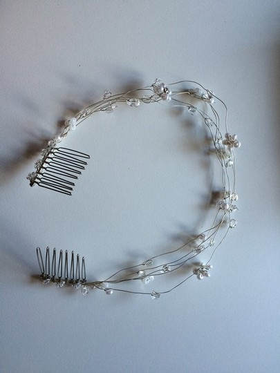 Silver Pearl And Crystal Weave