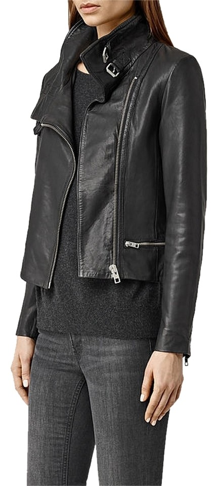 usa cheap sale new style & luxury beautiful and charming AllSaints Black Bales Leather Biker Current Season Jacket Size 0 (XS) 46%  off retail