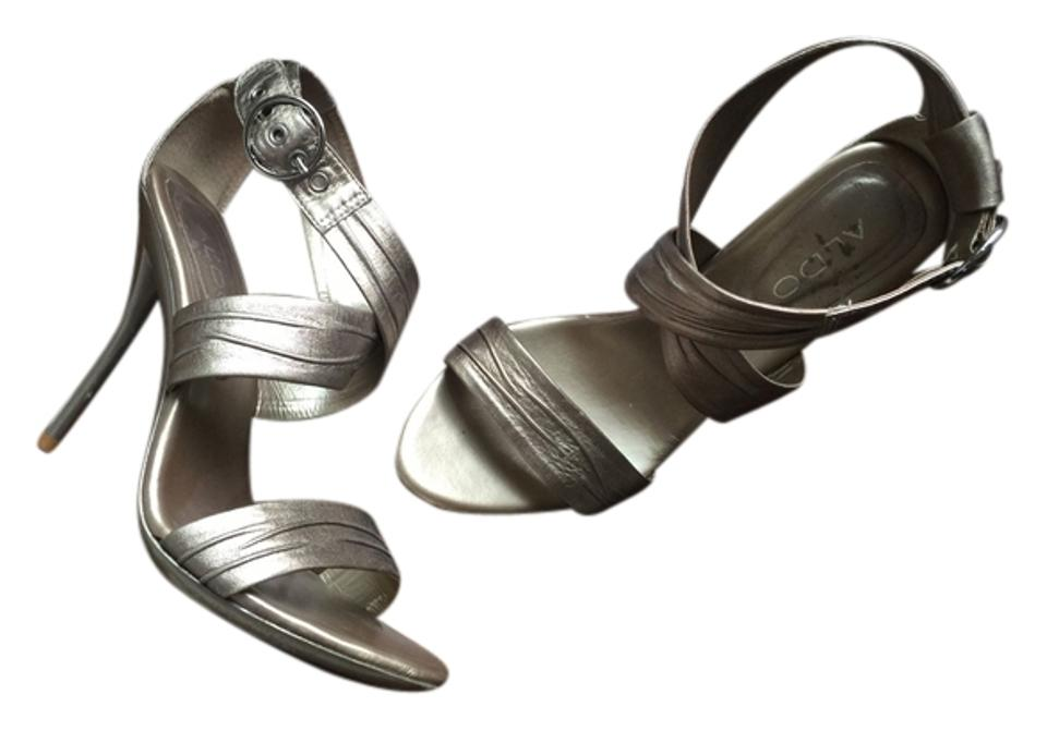 2a6b42ca768 ALDO Champagne Strappy Sandal Ankle Strap Pumps Size US 9 Regular (M ...