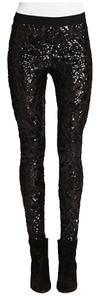 Fashionette Style Boutique Skinny Pants Sequins Black