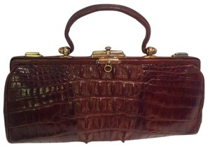 Other Crocodile Alligator Vintage Antique Circa 1920 Satchel in Brown
