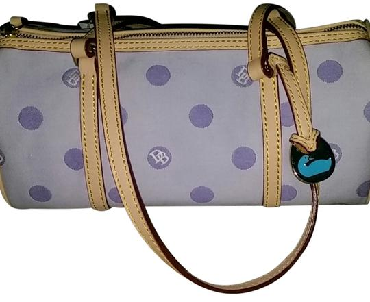 Preload https://item4.tradesy.com/images/dooney-and-bourke-k5510783-purple-canvas-and-leather-satchel-15063628-0-1.jpg?width=440&height=440